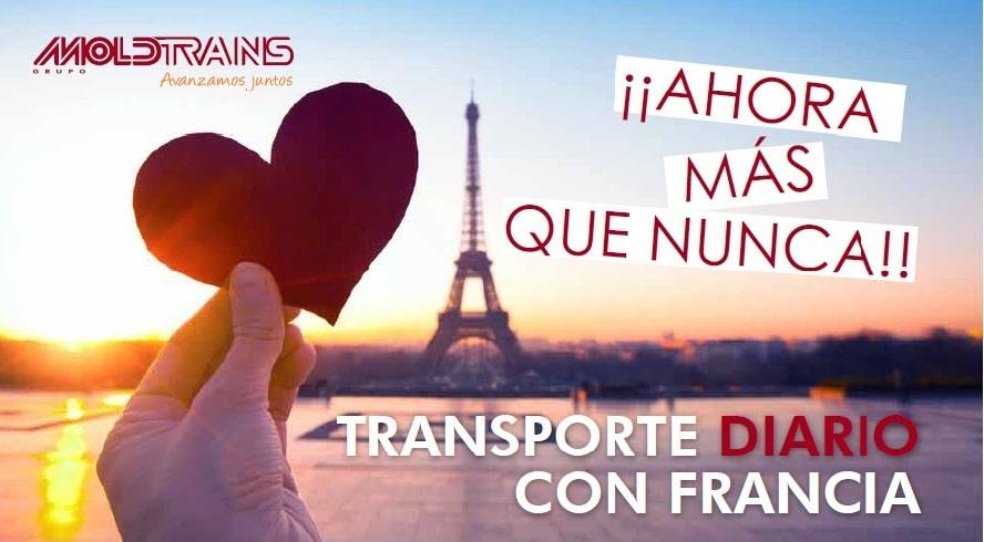 Transporte terrestre diario con Francia